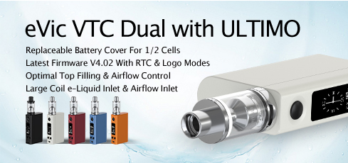 eVic VTC Dual with ULTIMO Atomizer Launching News