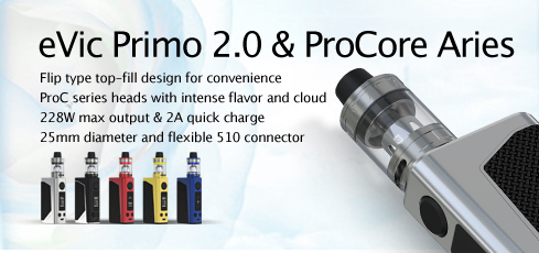 Joyetech eVic Primo 2.0 with ProCore Aries Atomizer Launching