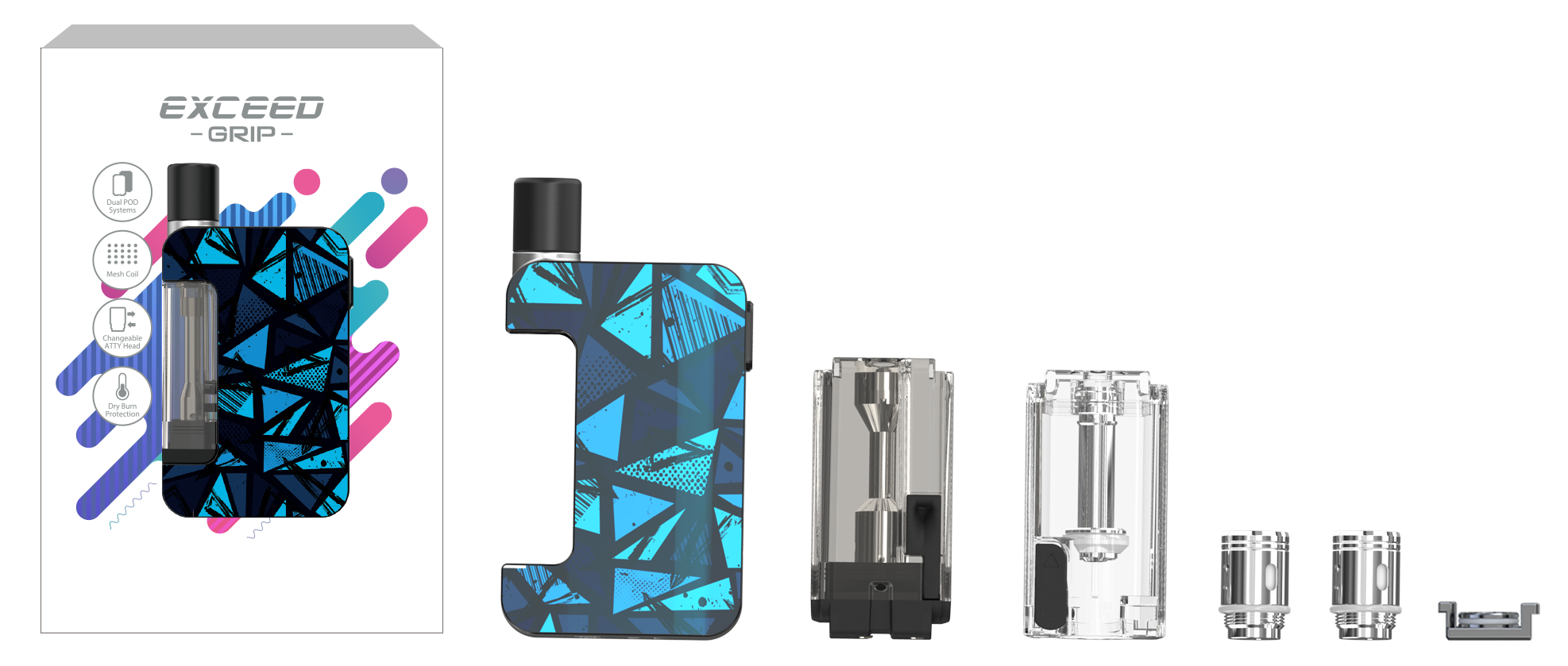Joyetech Exceed Grip 2ml Kit Package Includes