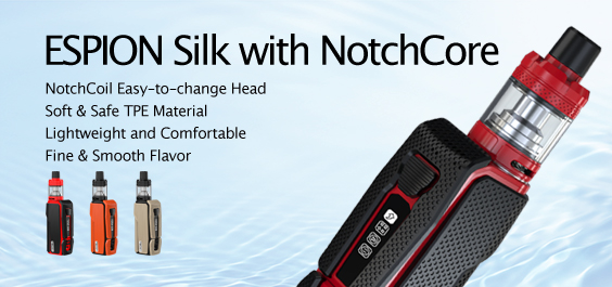 ESPION Silk with NotchCore Atomizer Kit Launching